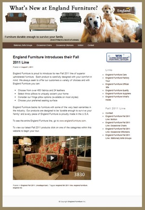 What's New at England Furniture
