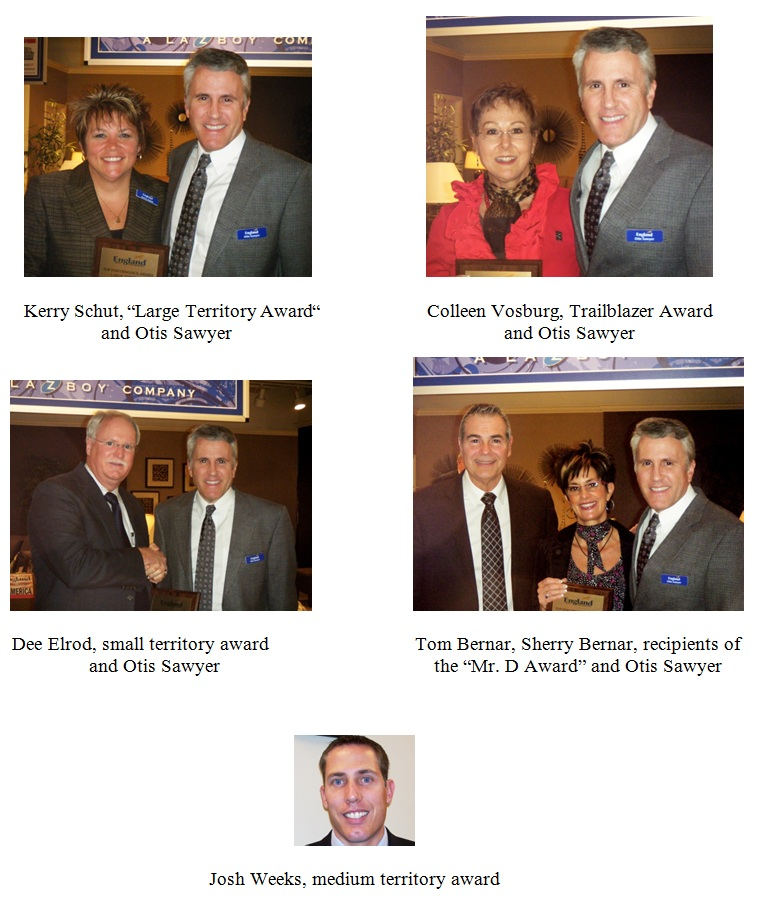 England Sales Awards