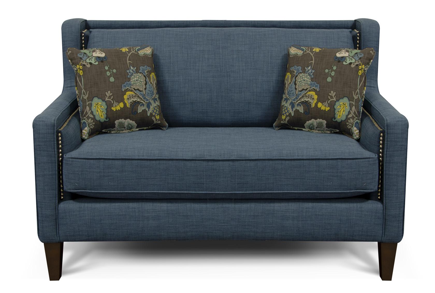 england-furniture-reviews-Roma-Blue-Leopold-Aquamarine-loveseat